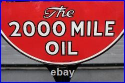 1940-50s Kendall Motor Oil Double Sided Porcelain Lollipop Sign