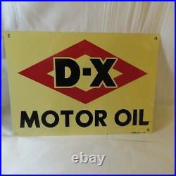 1952 D-x Motor Oil Metal Sign 20 X 14