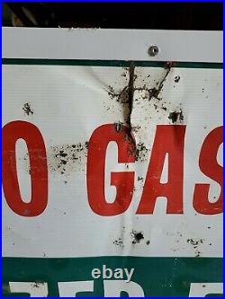 1960'S HEAVY OLD TEXACO GASOLINE MOTOR OIL STATION METAL SIGN 42 x22.5