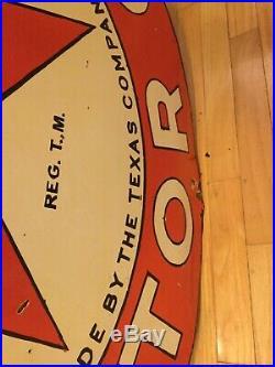42 Texaco Motor Oil Double Sided Porcelain Sign