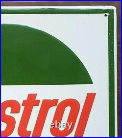 86 CASTROL Motor Oil SIGN - 24 embossed metal - Stout signs 1986 vintage gas