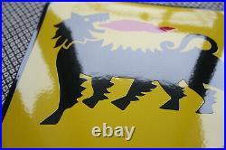 AGIP motor oils enamel sign Emailschild ECHT Emaille Schild 50 x 30 cm