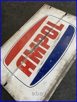 AMPOL Genuine Vintage Motor Oil Rack Sign