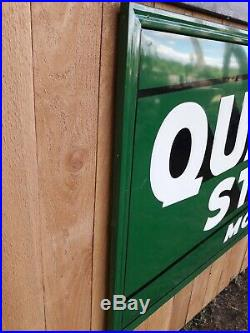 Authentic 1940-50's Quaker State Motor Oil Sign 72x36 Near Mint Condition