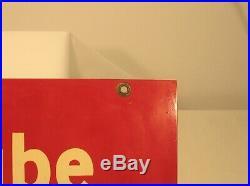 Authentic Original Essolube Motor Oil Porcelain Sign Circa 1951