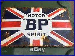 BP motor Oil Enamel Sign