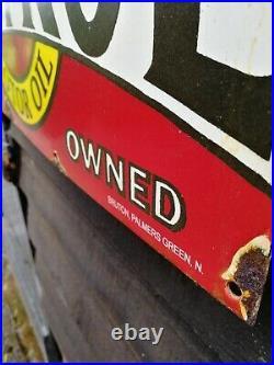 Castrol Enamel Sign motor spirit sign motor oil petrol service garage sign