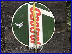 Castrol Tin Motor Oil Sign Rare