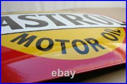 Castrol Wakefield Motor Oil Emailschild Schild enamel sign EMAILLE 60 x 40 cm
