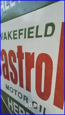 Castrol enamel sign Castrol Motor Oil enamel sign Castrol Wakefield sign