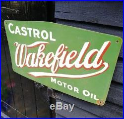 Castrol enamel sign Wakefield motor oil sign porcelain gasoline sign oil sign