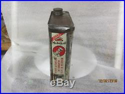 Early Original Gargoyle Mobiloil BB Motor Oil 1/2 Gallon Metal Can