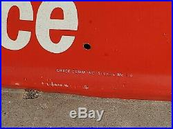 Embossed Tin Kendall Motor Oil Gas Station Garage Sign Auto Advert. 6ft
