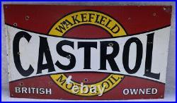 Enamel CASTROL WAKEFIELD MOTOR OIL Sign
