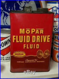 Gorgeous MOPAR Chrysler Motor Oil Fluid Drive Metal Gallon Can Auto Hemi Nice