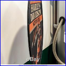 Harley-Davidson Motorcycle Motor Oil Can Curb Lollipop Metal Bike Vintage Style
