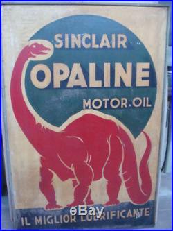 Insegna Sinclair motor oil Opaline Torino old sign legno