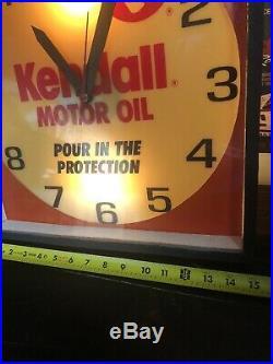 Kendall Motor Oil 15x15 Clock Works