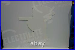LARGE Evinrude boat motor SIGN STEEL marine Texas gas oil 30 BY 24 3/4 NICE