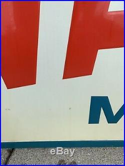 Large Vtg Valvoline Advertising Sign Metal Tin Not Porcelain Motor Oil Car 6x3