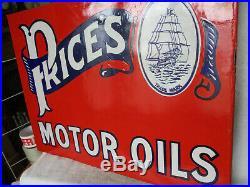 Motor Oil Enamel Sign