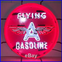 Neon Sign Flying A Motor Oil Gas Gasoline Garage lamp Man cave Mechanic gift