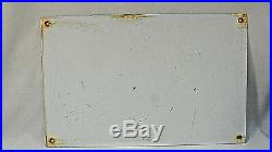 OILZUM Motor Oil Porcelain Sign White and Bagley 48