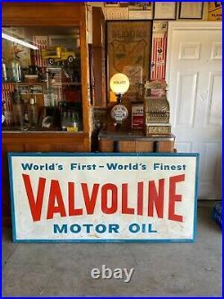 ORIGINAL Valvoline Motor Oil Service Station Gas Sign 70 x 34