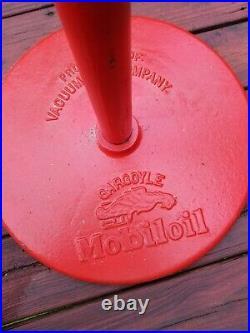 ORIGINAL Vintage MOBILOil pegasus LOLLIPOP Porcelain Sign gas motor oil