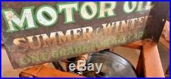 Oak Motor Oil Double Sided Sign