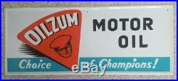 Oilzum Motor Oil Sign Original