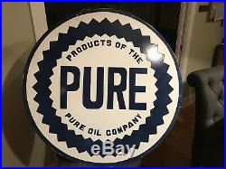 Old Pure Motor Oil Double Sided Porcelain Sign