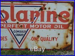 Old School Polarine Porcelain Motor Oil Sign