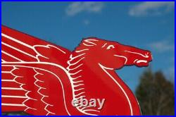 Old Style Mobil Oil Pegasus Horse Die-cut Motor Oil And Gas Station Flange Sign