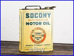 Original 1920's 1 Gallon Socony Magnonlia Motor Oil Can Super Rare