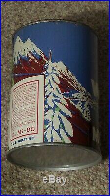 Original Ace Wil-Flo One Quart Motor Oil Can Metal Gas Sign FULLNOSMINTY