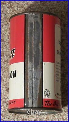 Original Indian Transmission One Pint Metal Motor Oil Can Gas Sign FULLNOSRARE