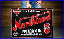Original Northland Independent Motor Oil Porcelain Sign