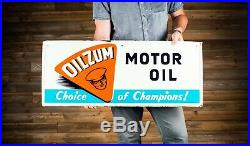 Original Oilzum Motor Oil Tin Sign