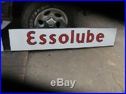 Original Old Essolube Standard Motor Oil Porcelain Sign 3 Piece Service Station