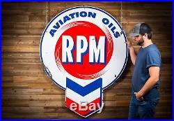 Original RPM Aviation Motor Oil Porcelain Sign