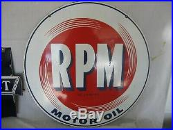 Original RPM Motor Oil Sign
