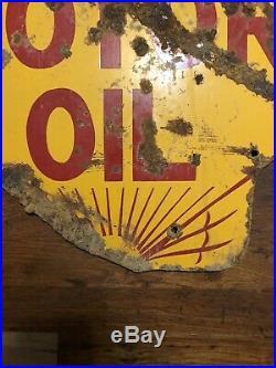 Original Shell Motor Oil Porcelain Sign