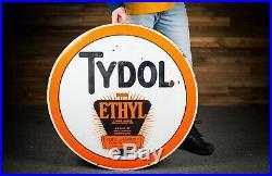 Original TYDOL Ethyl Motor Oil Porcelain Gas Sign