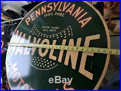 Original VALVOLINE MOTOR OIL Metal Gas Sign -rare