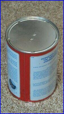 Original Vintage Apollo One Quart Motor Oil Can Metal Gas SignFULLNOS