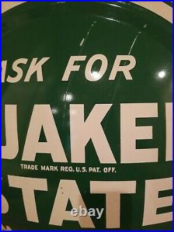 Quaker State Motor Oil 24 Button Sign