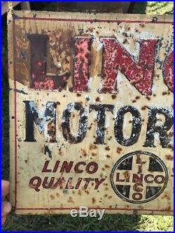 RARE Vintage Linco Motor Oil Metal/ Tin Tacker Sign