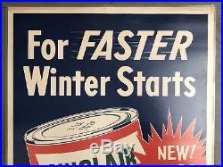RARE Vintage Original SINCLAIR Extra Duty Motor Oil Gas Station Dealer Sign 43