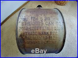 Rare 1920's Pure Oil Co. Tiolene 5 Gallon Motor Oil Rocker Can Gas Sign
